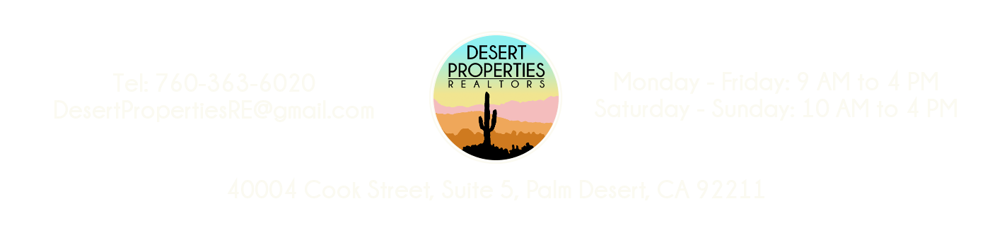 Desert Properties Realtors - Buy and Sell Real Estate in Coachella Valley and Greater Palm Springs Region